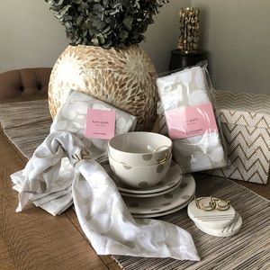 New Kate Spade Dish Set for Two w/Napkins & More!